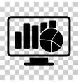 Statistics Monitoring Icon vector image vector image