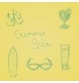 Summer hand drawn set vector image