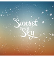 Sunset sky vector image