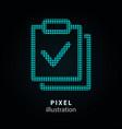 survey - pixel icon on black vector image