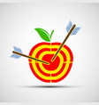 target apple icon image vector image