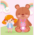toys object for small kids to play cartoon doll vector image vector image