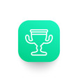 trophy cup line icon reward symbol vector image
