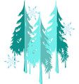 winter landscape background with snowflakes and vector image