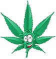 fun marijuana cartoon vector image
