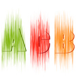 letters A B C in different style vector image