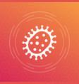 virus icon virology bacteria symbol vector image