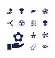 13 atom icons vector image vector image