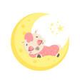 a cute cartoon llama sleeping vector image