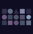 abstract pattern set with chromatic aberration vector image vector image