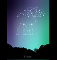 aries zodiac constellations sign with forest vector image vector image