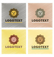 assembly flat shading style icons lion logo vector image vector image
