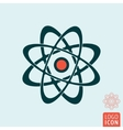 Atom icon isolated vector image vector image