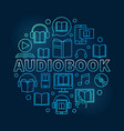audio book round colorful vector image vector image