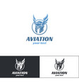 aviation logo design one vector image vector image