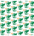background pattern with dragons vector image vector image