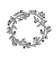 branch bent in circle sketch vector image vector image