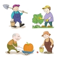 Cartoon gardeners work vector image vector image