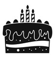 celebration cake icon simple style vector image vector image