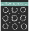 chalkboard set floral wreathes vector image
