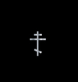 Christianity orthodox cross vector image