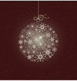 Christmas card with sparkling christmas bauble vector image