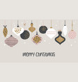 christmas sale banner template typography vector image vector image