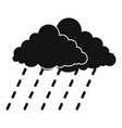 cloud rain storm icon simple black style vector image vector image