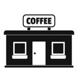 coffee shop icon simple style vector image