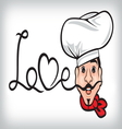 Comic Chef vector image vector image