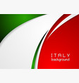 Corporate wavy abstract background Italian colors vector image vector image