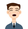 Cough icon Cough man vector image vector image