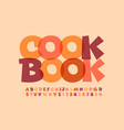 creative sign cook book transparent font vector image