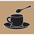 Cup And Teaspoon vector image vector image