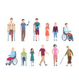 disabled persons diverse injured people in vector image vector image