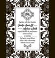 elegant floral swirls lacy pattern ornate frame vector image vector image