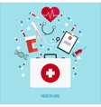Flat Medical help First aid vector image vector image