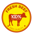 Fresh beef label vector image vector image