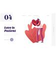 girl enjoying loving and romantic relations vector image vector image