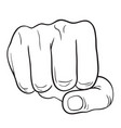 hand with thumb finger symbol hands compressed in vector image vector image