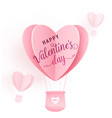 happy valentines day design with paper cut vector image vector image