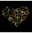 Heart of Seashells vector image