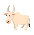 Indian cow icon cartoon style vector image vector image