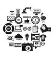 intelligence icons set simple style vector image vector image