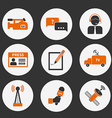 Journalism Icons Set vector image vector image