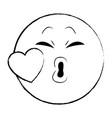 kiss chat emoticon sketch vector image vector image