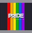 lgbtq pride month vector image