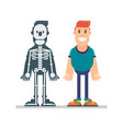 man and anatomy manual vector image