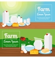 Milk farm dairy products banners