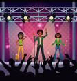 music concert stage vector image vector image